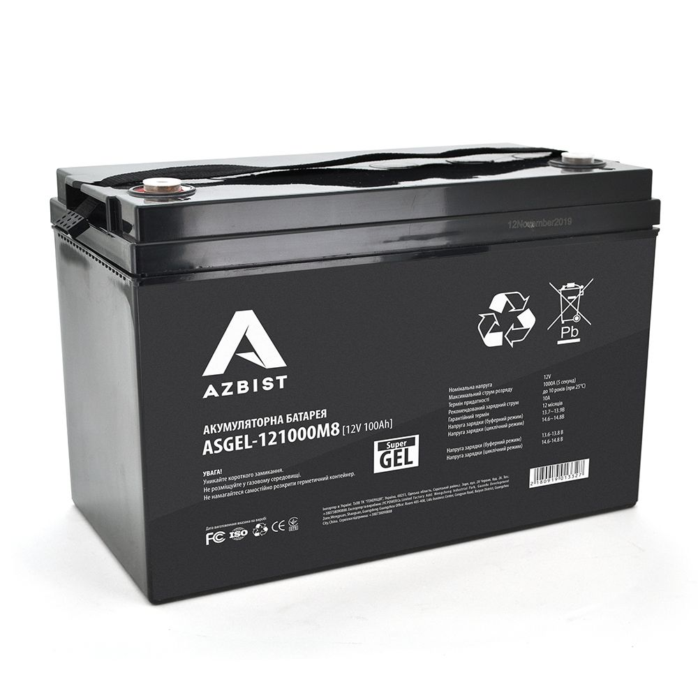 описание -  Гелевая аккумуляторная батарея Azbist GEL