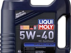 Моторное масло LiquiMoly Optimal Synth 5W-40 4л
