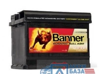 Аккумулятор BANNER RUNNING BULL - AGM 6CT-60 АзЕ