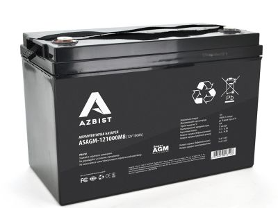 Аккумулятор AZBIST Super AGM ASAGM-121000M8, Black Case, 12V 100.0 Ah