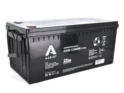 Аккумулятор AZBIST Super AGM ASAGM-122000M8, Black Case, 12V 200.0 Ah